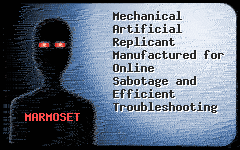 Mechanical Artificial Replicant Manufactured for Online Sabotage and Efficient Troubleshooting