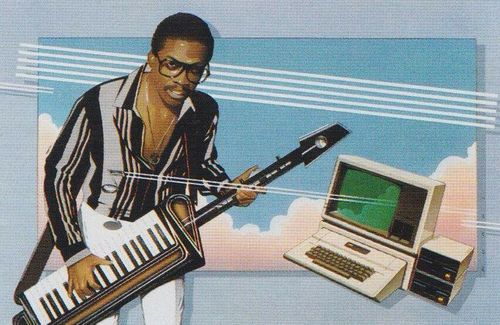 Herbie w/ keytar and Apple II