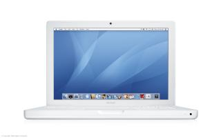 A white MacBook