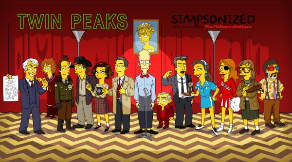 Twin Peaks Simpsonized
