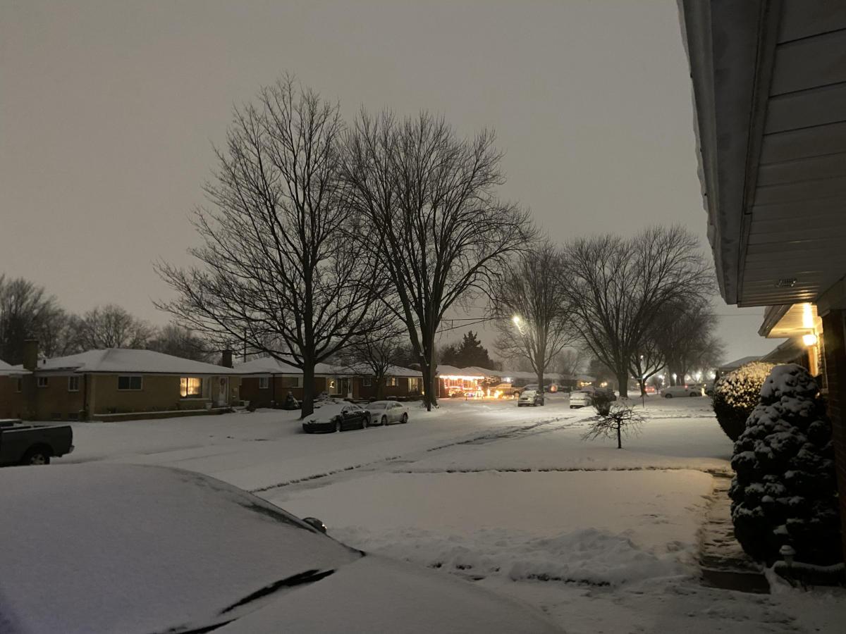 Snow, night mode